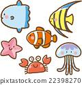海洋生物 一組 矢量 22398270