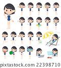 school girl regular swimwear style 22398710