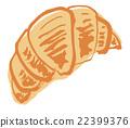 羊角麵包 麵包 手寫 22399376