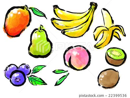 刷涂蔬菜水果套 22399536