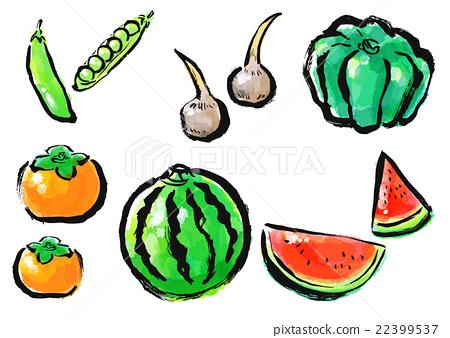 刷塗蔬菜水果套 22399537