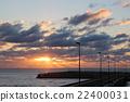 从路站Iwaki的日落 22400031