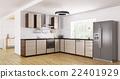Modern kitchen interior 3d rendering 22401929