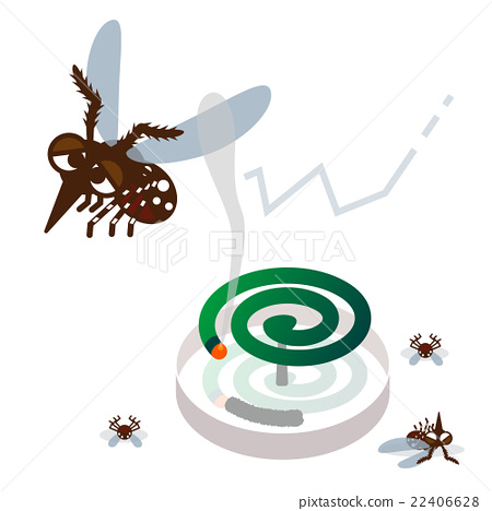 蚊子 蚊香 矢量 22406628