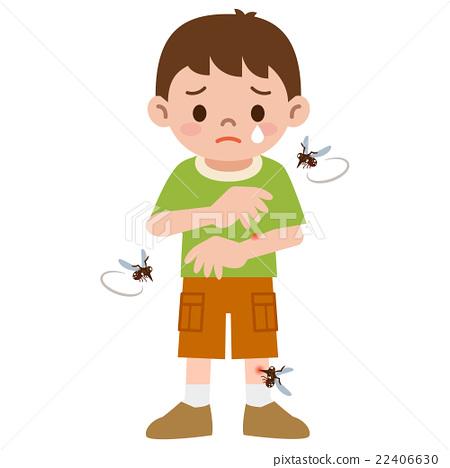 蚊子 矢量 男孩 22406630