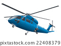 flying blue helicopter 22408379