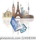 passport and ticket 22408390