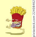 Monster French Fries. Junk food vector 22408462
