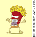 Monster French Fries. Junk food vector 22408465