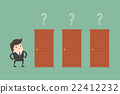 Businessman Choosing The Right Door. 22412232