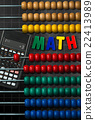 Colorful Wooden Abacus and Calculator 22413989
