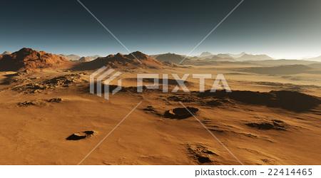 Dust on Mars. Sunset on Mars. 22414465