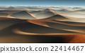 3D Fantasy desert landscape with great sand dunes 22414467