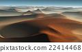 3D Fantasy desert landscape with great sand dunes 22414468
