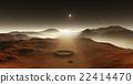 Dust storm on Mars. Sunset on Mars. 22414470