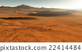 Dust storm on Mars. Sunset on Mars 22414484