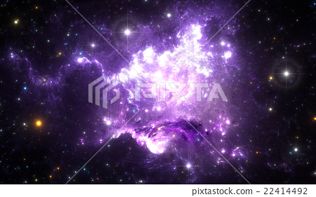 Giant glowing nebula 22414492