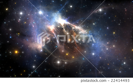 Giant glowing nebula 22414493