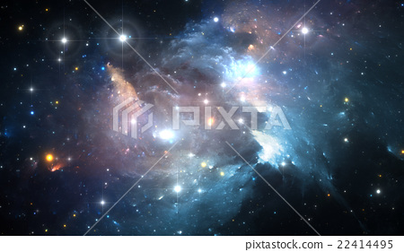 Space background with colorful nebula and stars 22414495