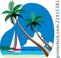 리조트, 해변, 요트 22415381