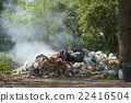 Burning pile of garbage, cause of air pollution 22416504