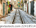 Hanoi Alley and Train Tracks - Vietnam 22418514