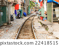Hanoi Alley and Train Tracks - Vietnam 22418515