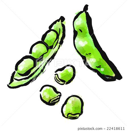 Brush painted food bean 22418611