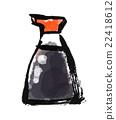 Brush drawn food soy sauce 22418612
