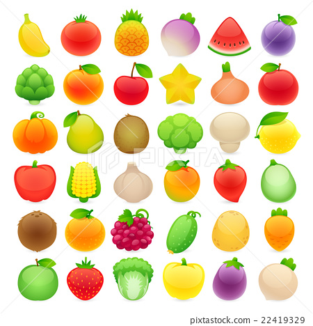 Fruits and Vegetables Big Collection 22419329