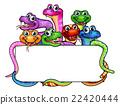 Cartoon Snakes Sign 22420444
