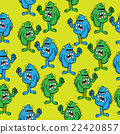 angry monster pattern 22420857