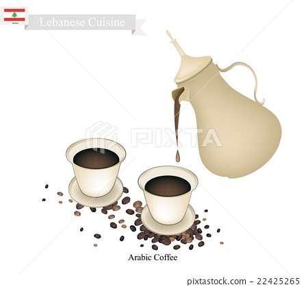 Traditional Arabic Coffee, Popular Dink in Lebanon 22425265