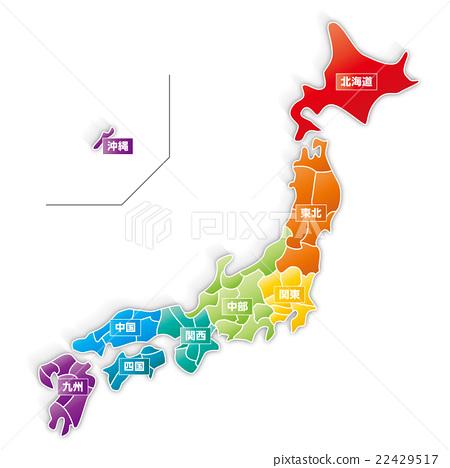 the japanese islands, map of japan, japan - Stock Illustration ...