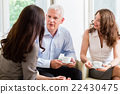 Advisor giving investment advice to senior couple 22430475