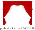 Classic red and white curtain 22433636