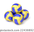 Group of volleyball balls 22436892