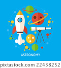 Astronomy Science Flat Vector Concept 22438252