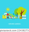 Nature Garden Vector Flat Concept 22438273