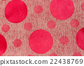 Polka red dot background on fabric 22438769