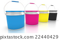 Four CMYK paint buckets 22440429