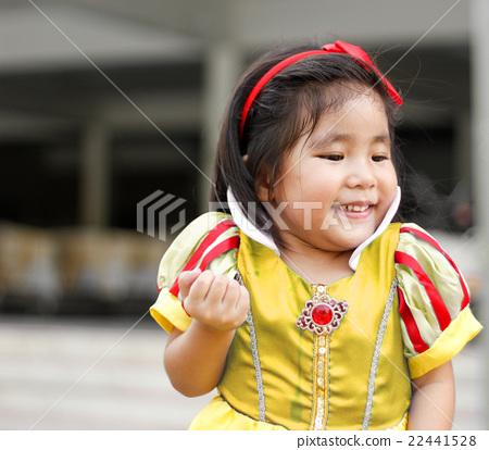 potrait princes dress with cute asian girl 22441528