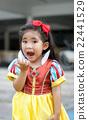 potrait princes dress with cute asian girl 22441529