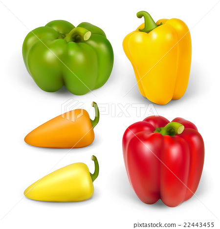 set realistic peppers 22443455