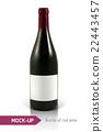 wine bottle vector 22443457