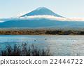 Mt. Fuji and lake 22444722