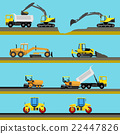 Set of seamless horizontal road construction 22447826