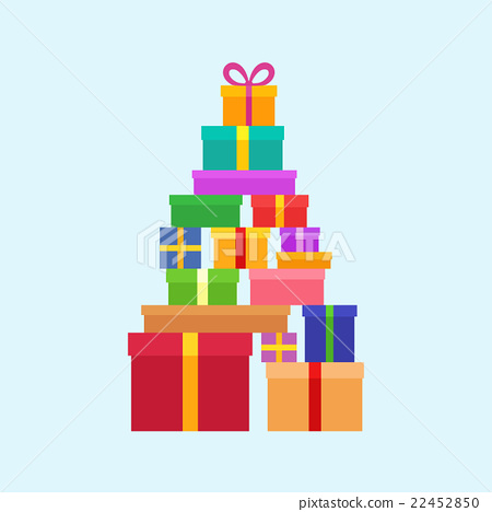 Stack of Christmas Boxes 22452850