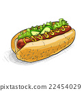 hot dog, color picture 22454029