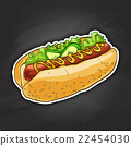 hot dog, color picture 22454030